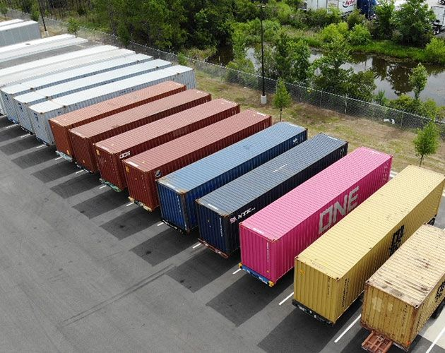 Averitt can store cargo containers and transport them to or from the port of Jacksonville.
