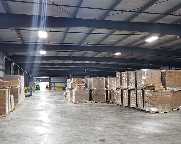 Jacksonville warehouse in Florida to store and distribute cargo and freight.